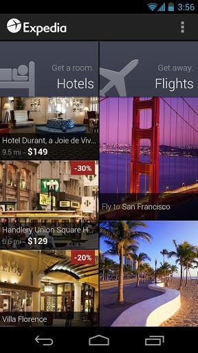 expedia(订机票酒店)