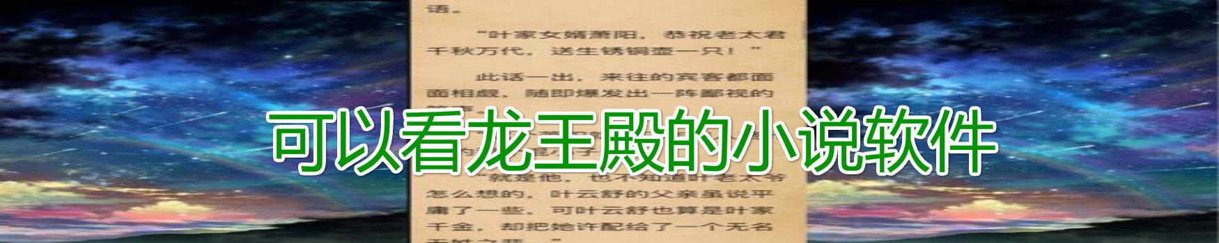 可以看龙王殿的小说软件