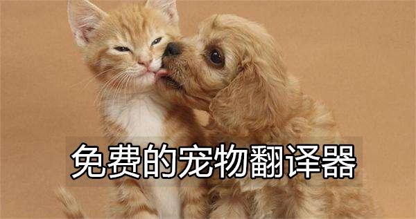 免费的宠物翻译器